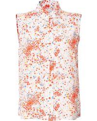 Paul & Joe Silk Pistol Sleeveless Shirt - Lyst