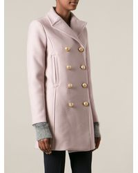 Dondup Edwyna Double Breasted Coat - Lyst