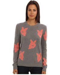 Tibi Melting Floral Intarsia Crewneck Pullover - Lyst