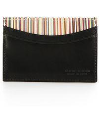 Paul Smith Striped Card Case - Lyst