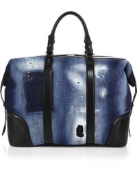 DSquared² Leather & Denim Duffle Bag - Lyst