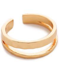Gorjana Taner Split Midi Ring - Gold - Lyst