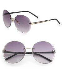 Gucci Rimless Oversized Round Sunglasses - Lyst