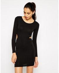 AX Paris Body-Conscious Dress With Cut-Out Waist - Lyst