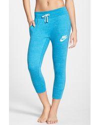 Nike 'Gym Vintage' Capri Sweatpants - Lyst