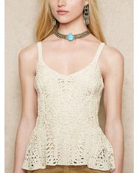 Ralph Lauren Sleeveless Lace Top - Lyst
