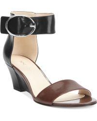 Nine West Ventana Ankle Strap Demi Wedge Sandals - Lyst