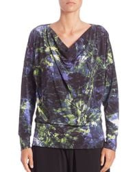 Issey Miyake | Alocasia-print Long-sleeve Jersey Top | Lyst