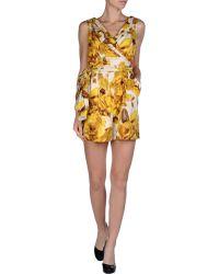 Dolce & Gabbana Short Dungaree - Lyst