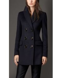 Burberry Wool Cashmere Military Coat - Lyst