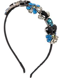 Marni - Crystal Embellished Silk Crepe Headband - Lyst