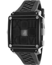 Ritmo Mundo - Women's Puzzle Automatic Black Silicone And Dial Silver-tone Accent - Lyst