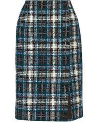 Oscar de la Renta Cotton-Blend Tweed Pencil Skirt - Lyst