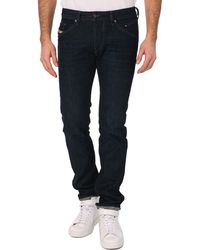 Diesel Belther Indigo Raw Distressed Slim Fit Jeans - Lyst