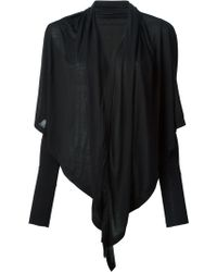 Gareth Pugh Black Draped Cardigan - Lyst