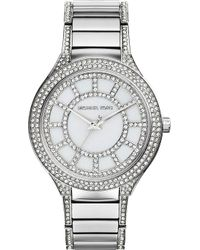 Michael Kors Kerry Paveembellished Watch White Genuine - Lyst