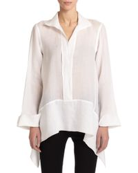 Donna Karan New York Woven Tunic Top - Lyst