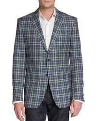 Etro Plaid Wool Sportcoat - Lyst