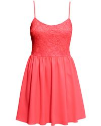 H&M Dress With A Lace Bodice - Lyst