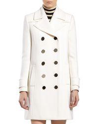 Gucci White Wool Coat - Lyst