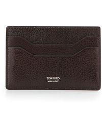 Tom Ford Leather Tf Card Case - Lyst