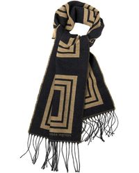 Alexander McQueen Golden-square Wool-blend Scarf - Lyst