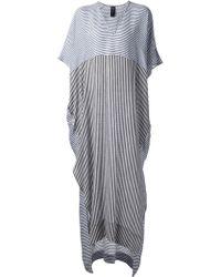 Zero + Maria Cornejo - Striped Long Kaftan Dress - Lyst