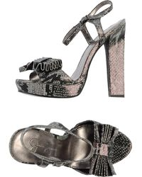 Jessica Simpson Gray Sandals - Lyst