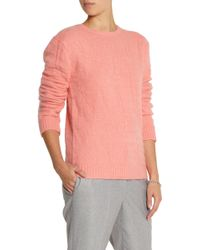 Richard Nicoll | Croc-effect Angora-blend Sweater | Lyst