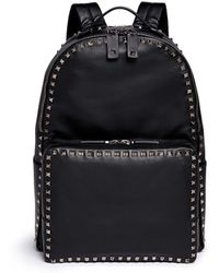Valentino 'Rockstud' Medium Leather Backpack black - Lyst