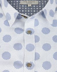 Ted Baker Graphic Spot Print Shirt - Lyst