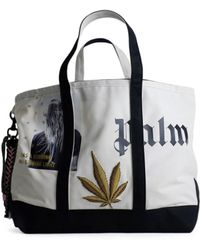 Palm Angels | White And Black Tote Bag | Lyst