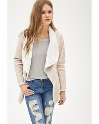 Forever 21 Faux Shearling Jacket - Lyst