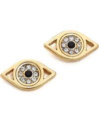 Juicy Couture - Evil Eye Stud Earrings Gold - Lyst