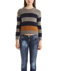 Giada Forte Striped Chunky Knit Sweater - Lyst