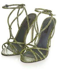 TOPSHOP - Rachel Strappy High Sandals - Lyst