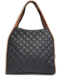 Big Buddha - 'jgeorgie' Quilted Faux Leather Ball Tote - Lyst