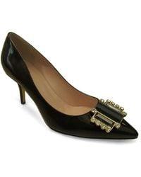 Kate Spade Jaylee Patent Leather Embellished Pumps - Lyst