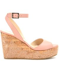 Jimmy Choo Philo Leather Wedges - Lyst