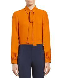 Gucci Light Orange Silk Shirt - Lyst