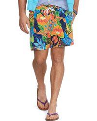 Polo Ralph Lauren Floral 6 Traveler Swim Short - Lyst