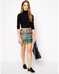 Sessun Liane Embroidered Mini Skirt - Lyst