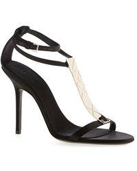 Burberry | 'irvington' T-strap Sandal | Lyst