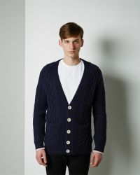 Band of Outsiders - Cable Knit Cardigan - Lyst