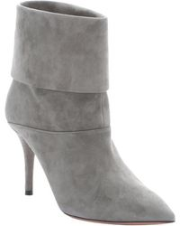 Aquazzura Slate Grey Suede 'Sasha' Ankle Booties - Lyst