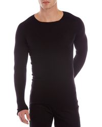Rick Owens Black Ribbed Sweater - Lyst