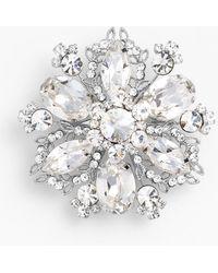 Nina 'Treasure Floral' Crystal Brooch - Lyst