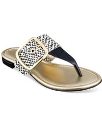Marc Fisher Paso Buckle Thong Sandals - Lyst