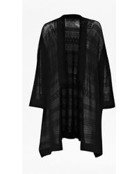 French Connection Isra Pointelle Oversized Cardigan - Lyst
