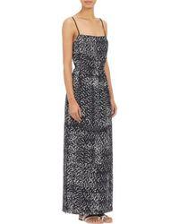 Barneys New York Abstract-print Maxi Dress - Lyst